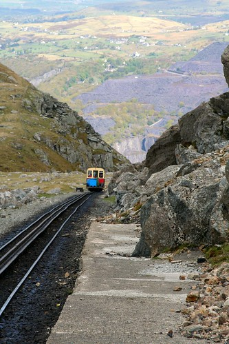 Snowdon mountain Railway Hunslet #9 in the scenery
