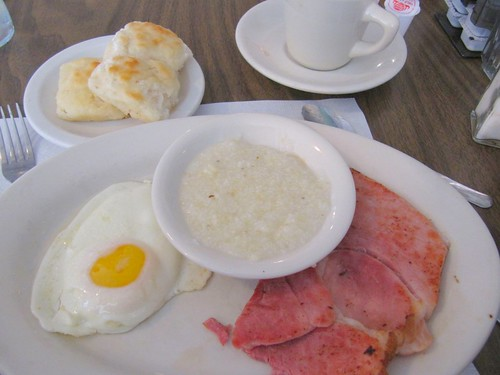 Waysider Fried Egg, Grits, Country Ham and  Biscuits