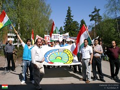 Kurdish demonstration in Helsinki on May 15th 2010 (Welat Nehri) Tags: finland helsinki demonstration iranian humanrights kurdistan kulosaari execution kurdish kurds politicalprisoners kurdistanfi iranianregime farzadkamangar alihaydarian farhadvakili shirinalamhooli mehdieslamian