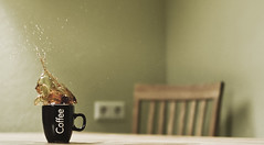 Coffee Splash! (Cornelius Unbehaun) Tags: cup tasse coffee sweet chocolate kaffee splash