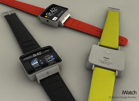iWatch with red and green ribon