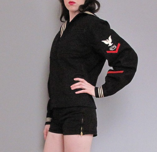 vintage sailor coat