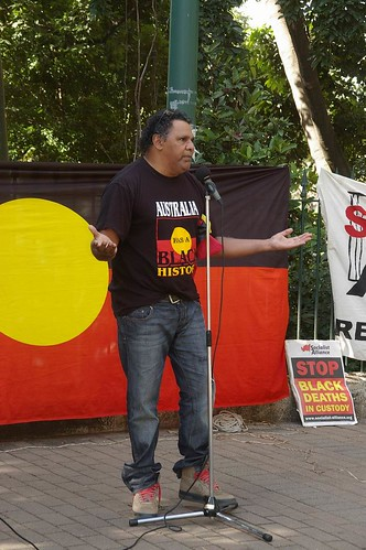 Adrian Burrugubba speaks out at Justice for Mulrunji Rally