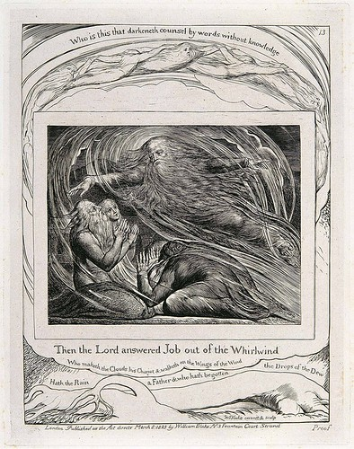 William Blake, The Lord Answering Job out of the Whirlwind