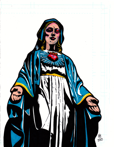 Virgin Mary Color 3