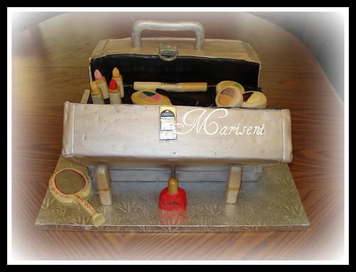 Cosmetic Train Case 30th Birthday Cake