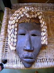 shell mask (omoo) Tags: wood newyorkcity shells art apartment mask african interior westvillage antiques carvedwood collectibles furnishings greenwichvillage rushseat ladderbackchair shellmask