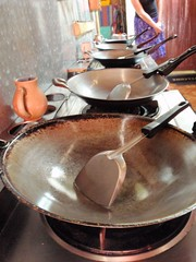 Les woks de cuisine