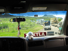 Aqua Azul 001 - Approaching the Zapatista roadblock (Ben Beiske) Tags: mexico chiapas mexiko aquaazul