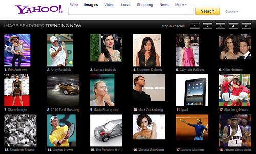 yahoo image search home page