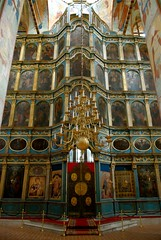 St Sophia Chapel (ODEROV) Tags: art lamp saint painting ancient cathedral sofia russia painted icon ceiling dome orthodox sophia eglise height russie  frescos      vologda  slav