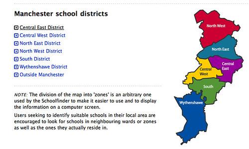 Manchester schools maps