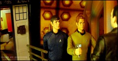 Star Trek: The Time Lord (Rooners Toy Photography) Tags: startrek who doctorwho bbc spock scifi sciencefiction tardis enterprise leonardnimoy kirk thedoctor captainkirk ussenterprise crossover timelord williamshatner starshipenterprise christophereccleston chrispine 9thdoctor zacharyquinto characteroptions rooners