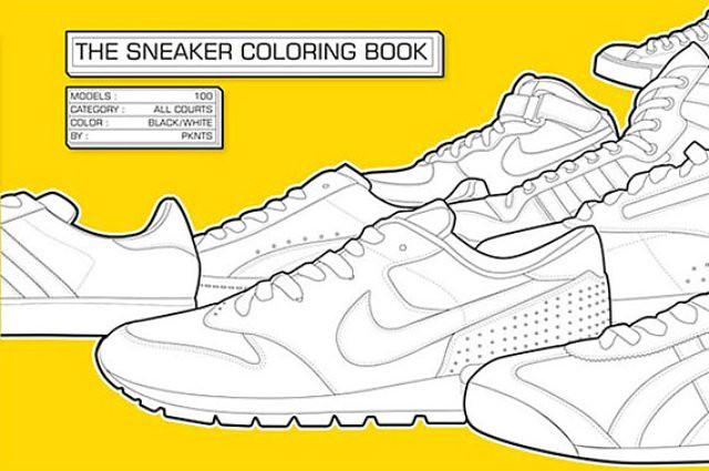 sneaker-colouring-book