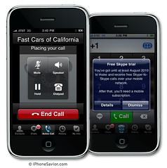 iPhone 3G Calls With Skype 2.0