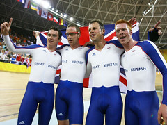 Paul Manning, Ed Clancy, Geraint Thomas and Bradley Wiggins (The Bulge) Tags: cyclist biker spandex bulge