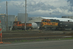 Two BNSF switchers