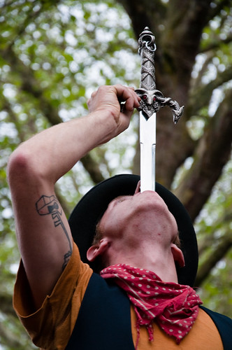 sword swallowing