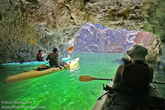 Colorado River Kayak Mojave Desert (Steve Sieren Photography) Tags: summer arizona green photo aqua kayak nevada canyon adventure workshop coloradoriver cave guide mojavedesert outdooractivities emeraldriver scenicphotoworkshopscom riverphotoguide