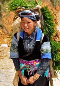 H'Mong ethnic girl in Sapa, Vietnam