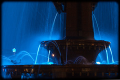 Archibald Fountain Illuminated in Blue (Craig Jewell Photography) Tags: blue wet fountain rain night iso800 glow sydney eerie f10 nsw newsouthwales glowing hydepark raining archibaldfountain ghostly 2010 archibald 14sec canoneos5dmarkii ef100mmf28lmacroisusm cpjsm craigjewellphotography filename20100602215625mg2257cr2