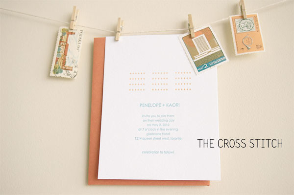 snap & tumble wedding line: the crossstitch