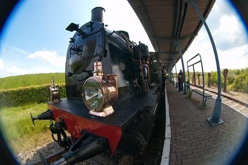 Trains at the platform