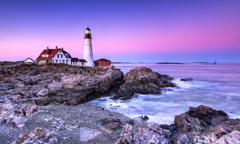 Lighthouse in Maine... (HDR)
