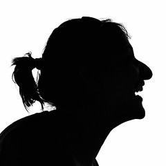 My First Silhouette (DeeMac) Tags: silhouette cool profile laughter uncool squarecrop cool2 85mm18 cool3 cool4 laughingwoman uncool2 uncool3 uncool4 uncool5 uncool6 uncool7 nikond300s