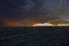La Bajada (Kobold Studios) Tags: sunset sky newmexico santafe clouds landscape desert earth ground rainstorm lightning desertrain d90 santafecounty nikond90