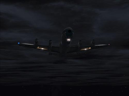 Foto vencedora de um concurso de Flight Simulator