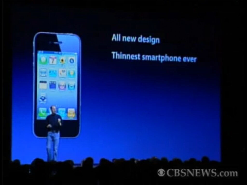 Steve Jobs unveils the iPhone 4 at WWDC 2010