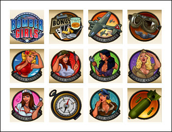 free Bomber Girls slot game symbols