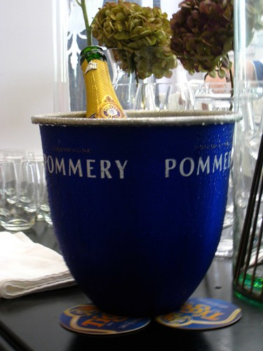 Our bottle of Pommery Champagne