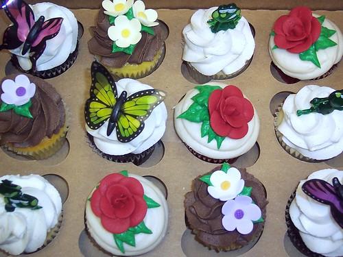 Custom Spring Assorted Cupcakes