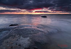 P A T I E N C E !  9:14 p m (CUCKOOPHOTHOG) Tags: camera sunset pets ontario canada lens landscape rocks photographer country lakes places 03 09 beaches filters hitech province tika northbay lakenipissing gnd hardedge cranberrytrail nikond300 tokinaatx116 ruiferreira hoyalpfpolarizercir