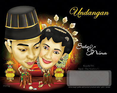 karikatur wajah pernikahan jogja jawa