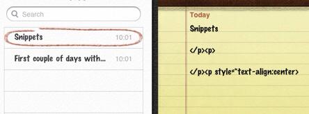 iPad notes
