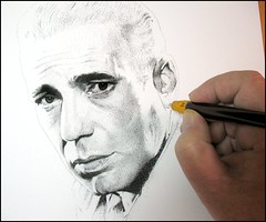Humphrey Bogart. work in progress (pbradyart) Tags: portrait bw art pencil movie star sketch artwork drawing humphreybogart pencildrawing golddragon filmstardrawing flickrunitedaward humphreybogartportrait humphreybogartpencildrawing humphreybogartpencilportrait