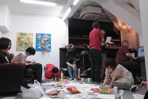 Oekaki Offline meeting at MagicRoom, Ebisu.