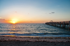 Sunday Morning Sunrise (Grizzlee Martin) Tags: ocean fish beach water beautiful clouds sunrise pier fishing fisherman sand nikon waves florida altlanticocean ripples chrismartin goldenlight d90 photosbychrismartincom photosbychrismartin chrismartinphotography