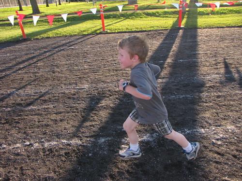 Benjamin running 400 meters