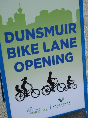 Dunsmuir Bike Lane Opening