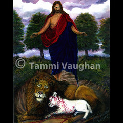 """Title: """"Behold! I Come Quickly!"""" (Tammi Vaughan) Tags: painting christ traditional fineart jesus lion dream vision lamb oilpainting realism christianart tammivaughan httpwwwtammivaughancom dreamofjesus beholdicomequickly"""
