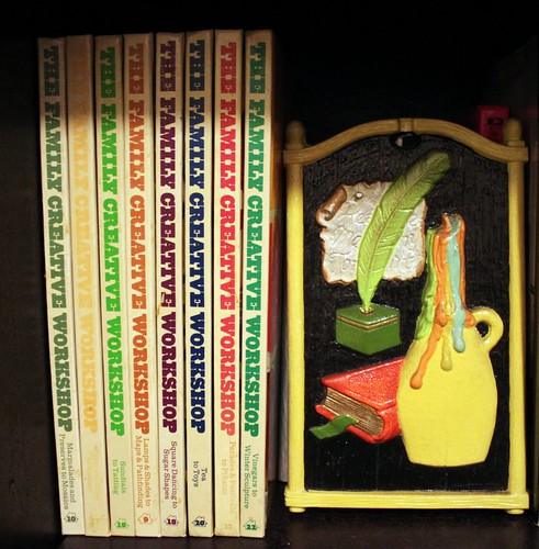 vintage 70s craft books and art