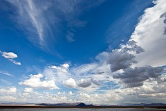 dry lake (Eric 5D Mark III) Tags: california blue sky cloud mountain canon landscape day desert empty wideangle mojavedesert drylake zzyzxroad sodadrylake ef14mmf28liiusm eos5dmarkii