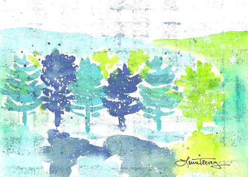 Winter Wonderland II - watercolor painting