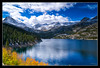 South Lake Blue and Gold (jeandayphotography.com) Tags: ca trees lake snow mountains fall water colors leaves clouds forest reflections october trail aspen sierranevada bishop 2010 southlake mhw jday easternsierranevada jeanday aspendell mountainhighworkshops