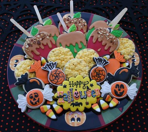Vintage Halloween Treat Platter