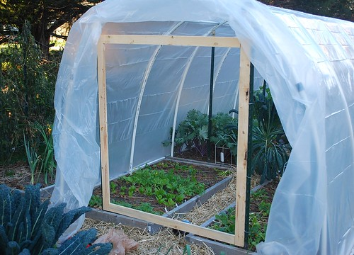 Building hoop house 13